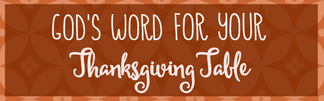 Thanksgiving Bible Verses | Tabler Party of Two