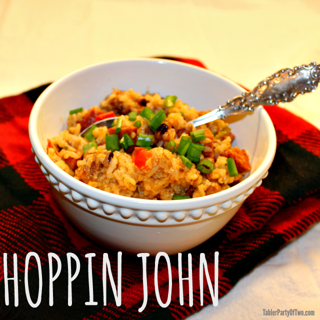 The perfect way to ring in the new year! Hoppin John has your black eyed peas for luck and prosperity!
