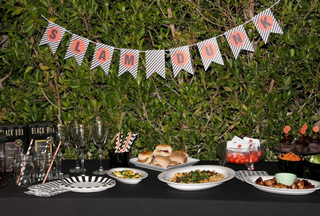 The Big Game Basketball Party: Entertaining and Printables -TablerPartyOfTwo.com