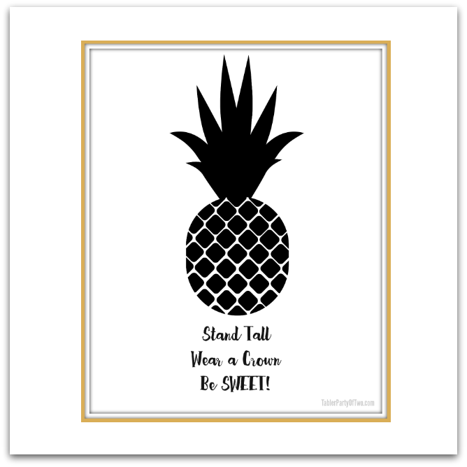 photo relating to Free Printable Artwork referred to as Totally free Pineapple Printable Art! Tabler Get together Of 2