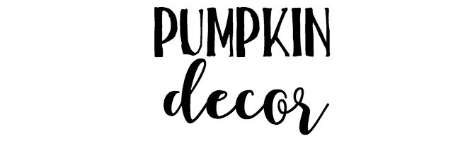 Pumpkin Decor and Sunday Features {146}