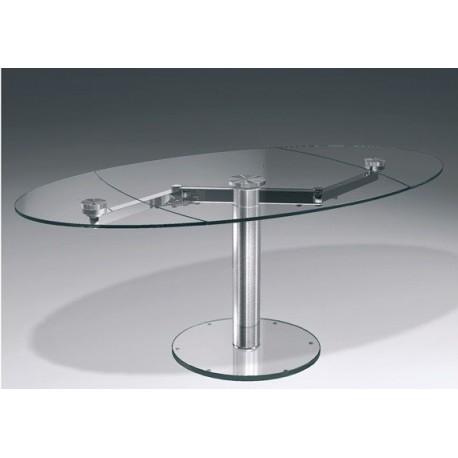 table design en verre transparent extand et table transparente eda concept