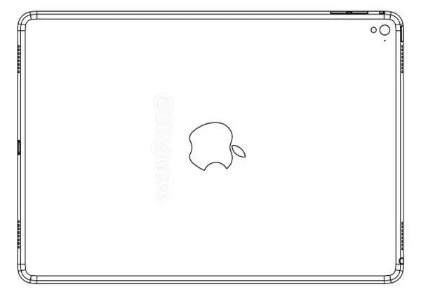 Eine Zeichnung des iPad Air 3