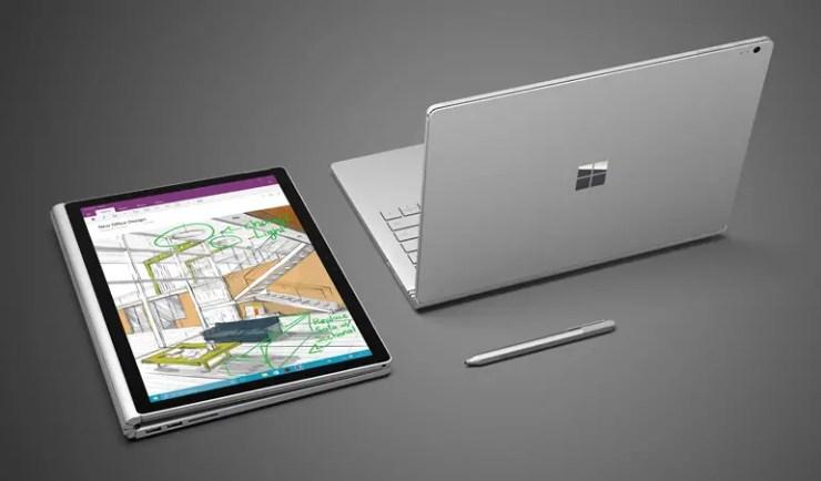 Microsoft Surface Book mit Stylus