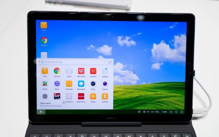Huawei MediaPad M5 Desktop Modus