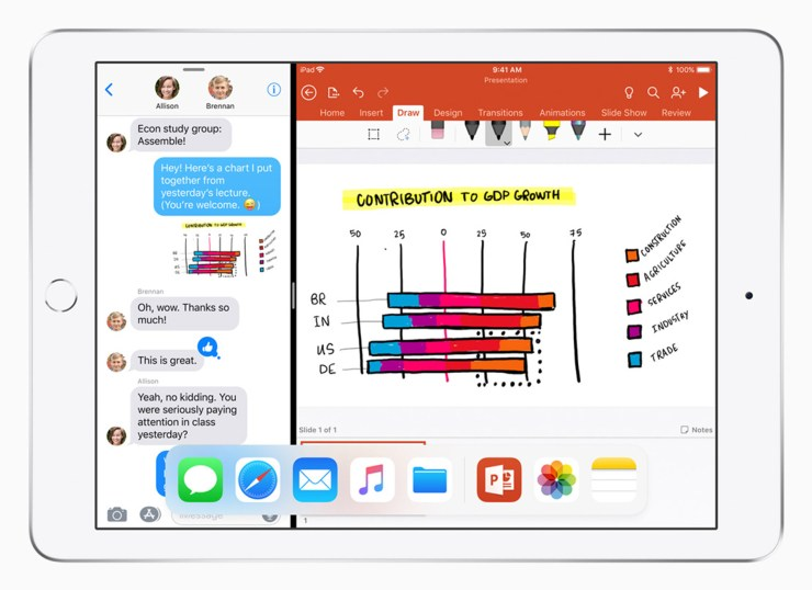 Apple iPad 2018 mit iOS 11
