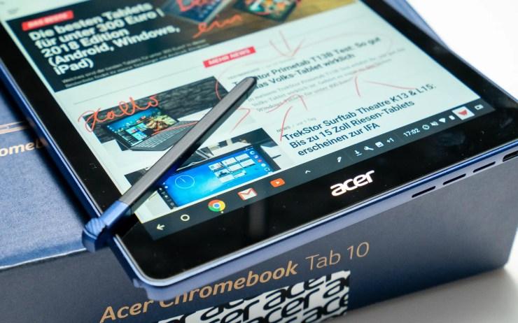 Acer Chromebook Tab 10 Stylus