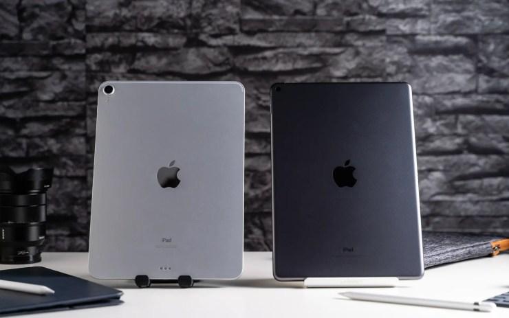 iPad Air vs iPad Pro Rückseiten