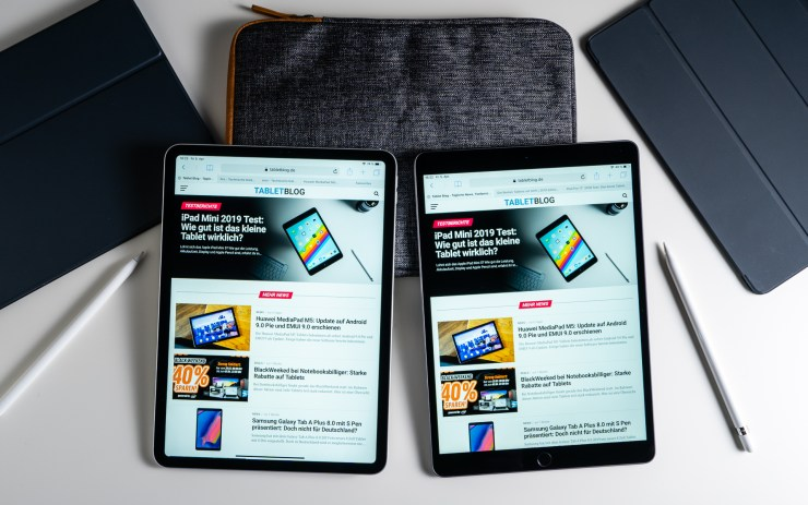 iPad Air vs iPad Pro Safari Vergleich