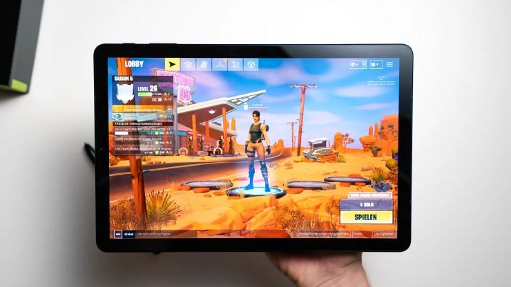 Samsung Galaxy Tab S4 mit Fortnite