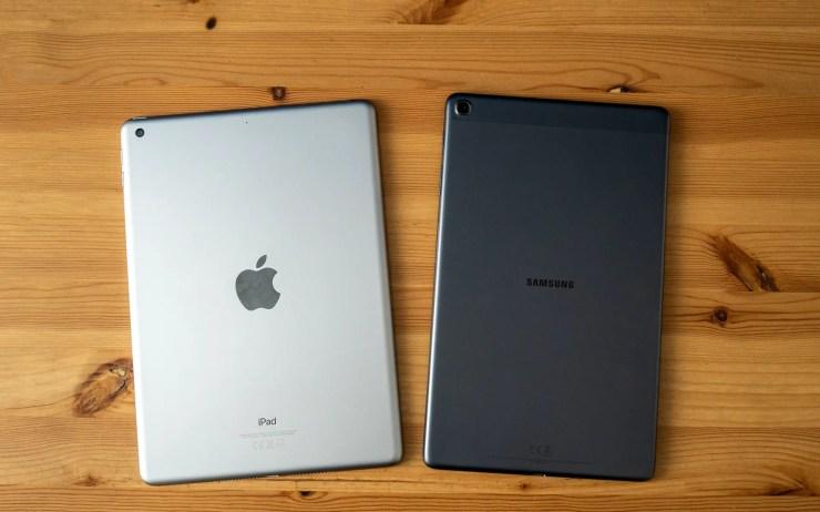 iPad vs Galaxy Tab A 2019 Design