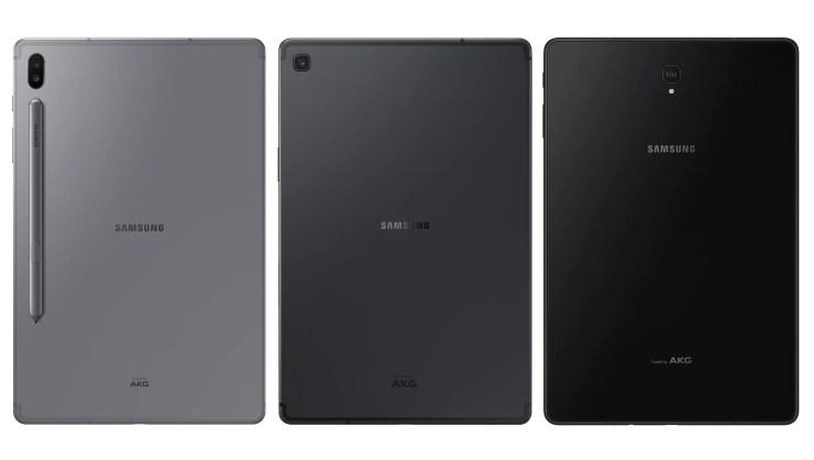 Samsung Galaxy Tab S6 vs S5e vs S4 Design