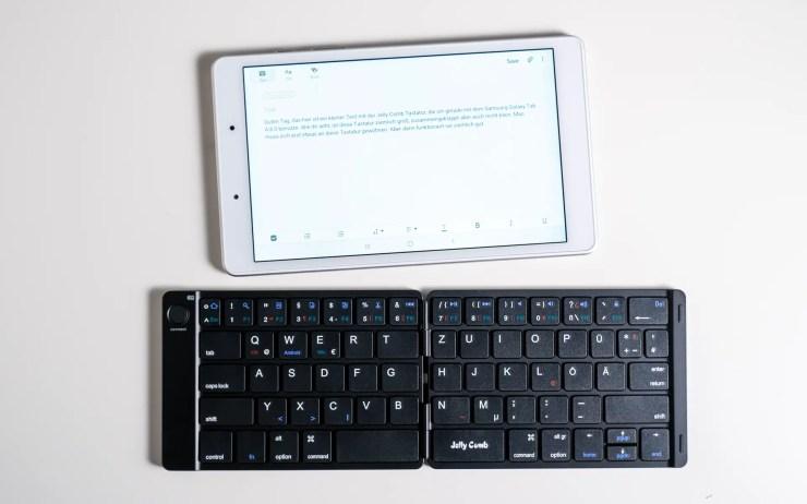 Galaxy Tab A 8.0 mit Jelly Comb Tastatur