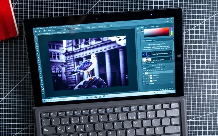 TrekStor PrimeTab S11B mit Photoshop