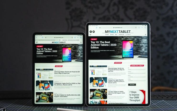 iPad Pro 2020 Browser