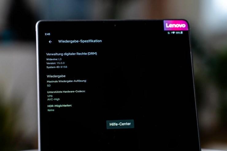 Lenovo Tab M10 HD 2. Gen mit Netflix