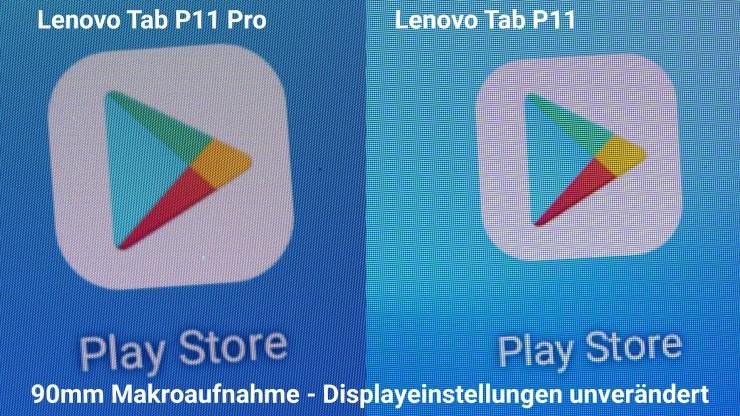 Lenovo Tab P11 Pro vs. P11 Pentile Display