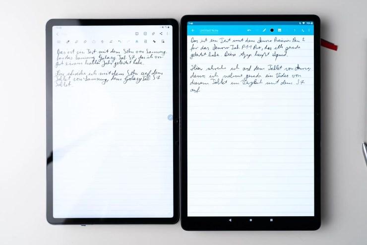 Lenovo Tab P11 Pro vs Samsung Galaxy Tab S7 Notizen