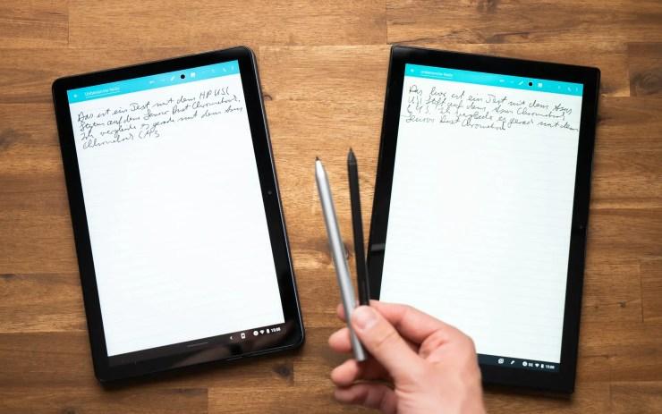 Lenovo Duet Chromebook vs. ASUS Chromebook CM3 USI Stylus