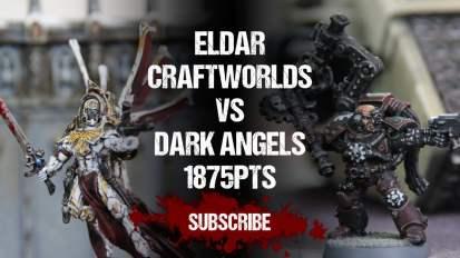 Warhammer 40,000 Battle Report: Eldar Craftworlds vs Dark Angels 1875pts