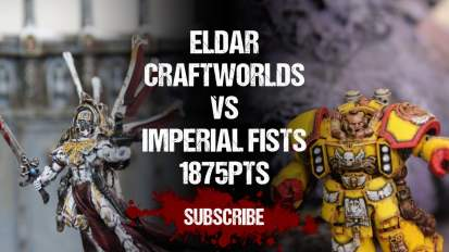 Warhammer 40,000 Battle Report: Eldar vs Imperial Fists 1875pts