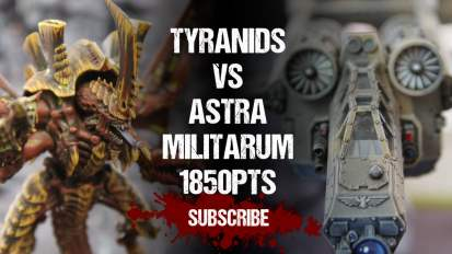 Warhammer 40,000 Battle Report: Tyranids vs Astra Militarum 1850pts