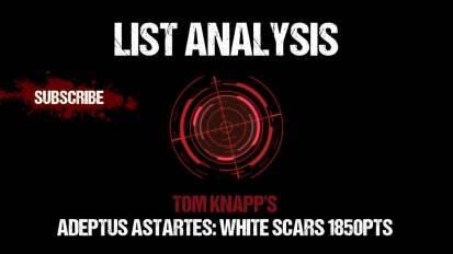 List Analysis: Tom Knapp's White Scars 1850pts