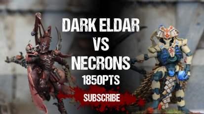 Warhammer 40,000 Battle Report: Dark Eldar vs Necrons 1850pts