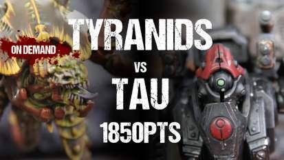 Warhammer 40,000 Battle Report: Tyranids vs Tau 1850pts