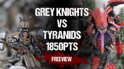 Warhammer 40,000 Battle Report: Grey Knights vs Tyranids 1850pts