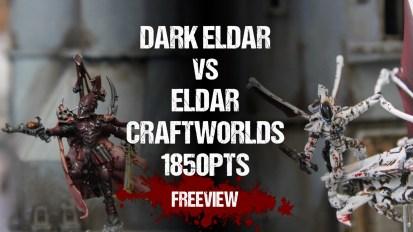 Warhammer 40,000 Battle Report: Dark Eldar vs Eldar Craftworlds 1850pts