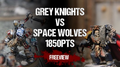 Warhammer 40,000 Battle Report: Grey Knights vs Space Wolves 1850pts