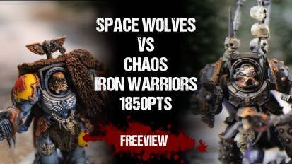 Warhammer 40,000 Battle Report: Space Wolves vs Chaos Iron Warriors 1850pts