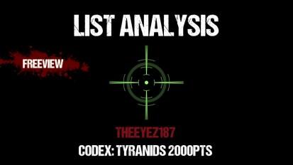 List Analysis: Codex Tyranids 2000pts