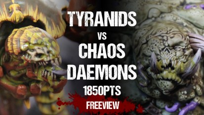 Warhammer 40,000 Battle Report: Tyranids vs Chaos Daemons 1850pts