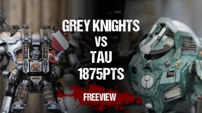 Warhammer 40,000 Battle Report: Grey Knights vs Tau 1875pts