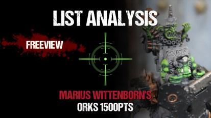 List Analysis: Marius Wittenborn's Orks 1500pts