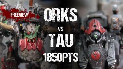 Warhammer 40,000 Battle Report: Orks vs Tau 1850pts