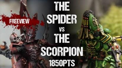 Striking Scorpion 82 Collaboration Battle Report: Dark Eldar vs Eldar Craftworlds 1850pts
