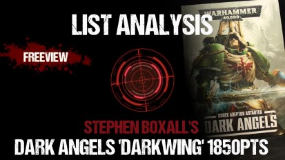 List Analysis: Stephen Boxall's Dark Angels 'Darkwing' 1850pts