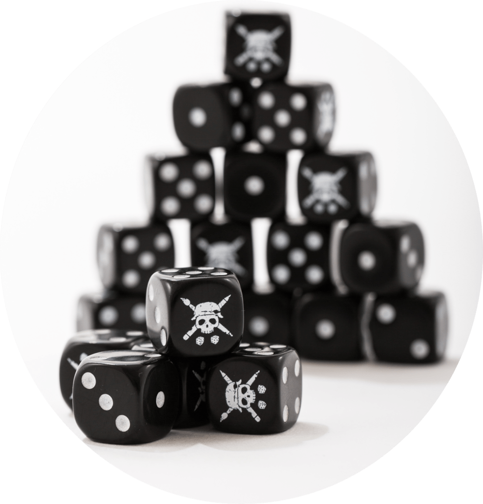 TABLETOP TACTICS BLACK DICE