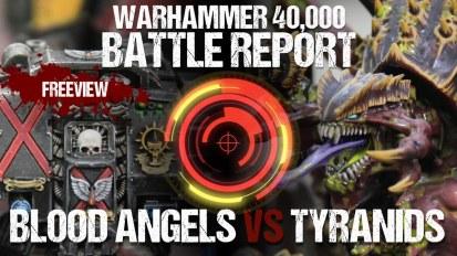 Warhammer 40,000 Battle Report: Blood Angels vs Tyranids 1850pts