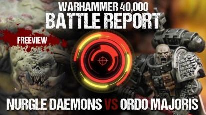 Warhammer 40,000 Battle Report: Nurgle Daemons vs Ordo Majoris 1850pts