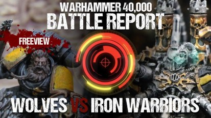 Warhammer 40,000 Battle Report: Space Wolves vs Iron Warriors 1850pts