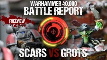 Warhammer 40,000 Battle Report: White Scars vs Grots 2000pts