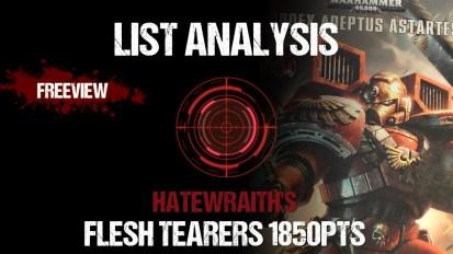 List Analysis: Hatewraith's Flesh Tearers 1850pts