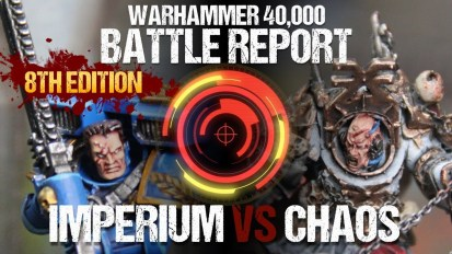 *NEW* Warhammer 40k *8TH EDITION* Battle Report: Chaos vs Imperium 2000pts