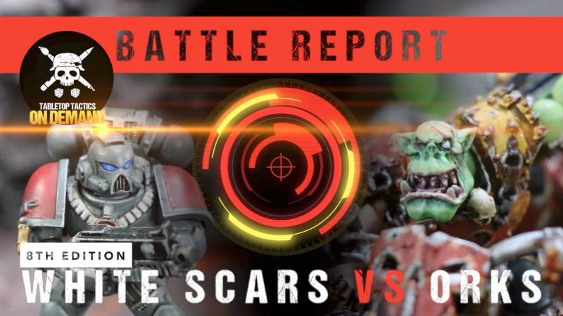 Warhammer 40,000 8th Ed Battle Report: White Scars vs Orks 2000pts