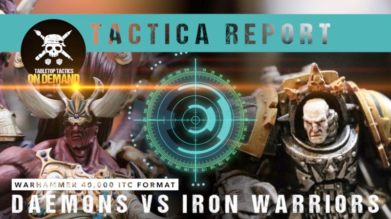 Warhammer 40,000 Tactica Battle Report: Daemons vs Iron Warriors 2000pts