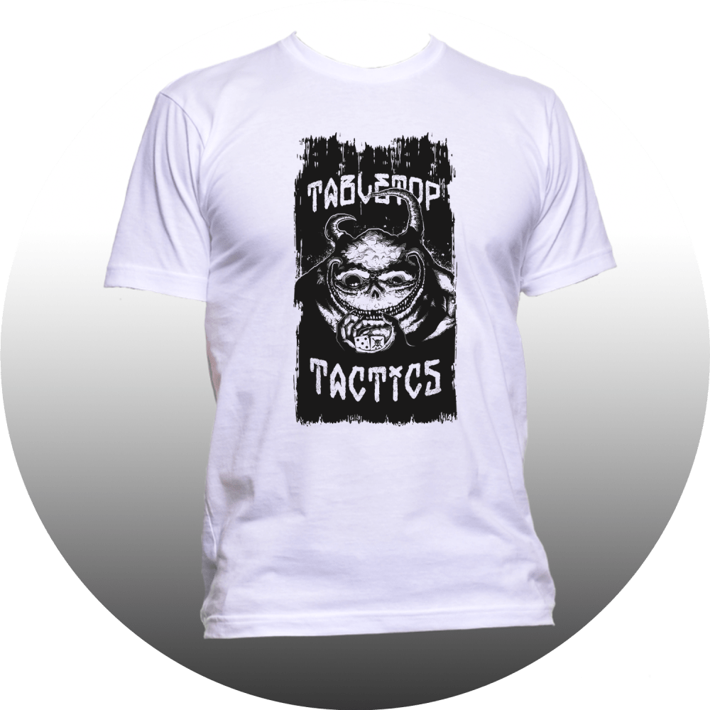Grotty Tabletop Tactics White T-Shirt